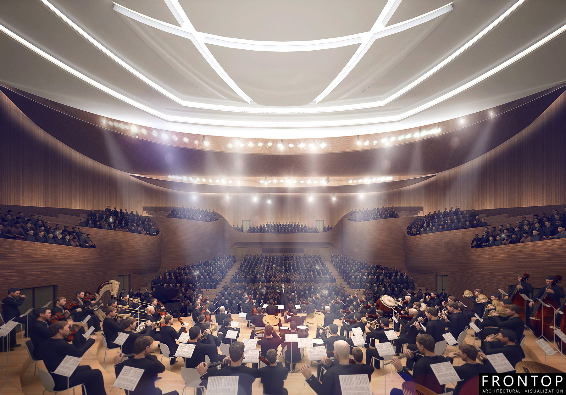 Low price for 3d Modeling And Rendering - Luoyang Grand Theatre and Hall of Fame – Frontop