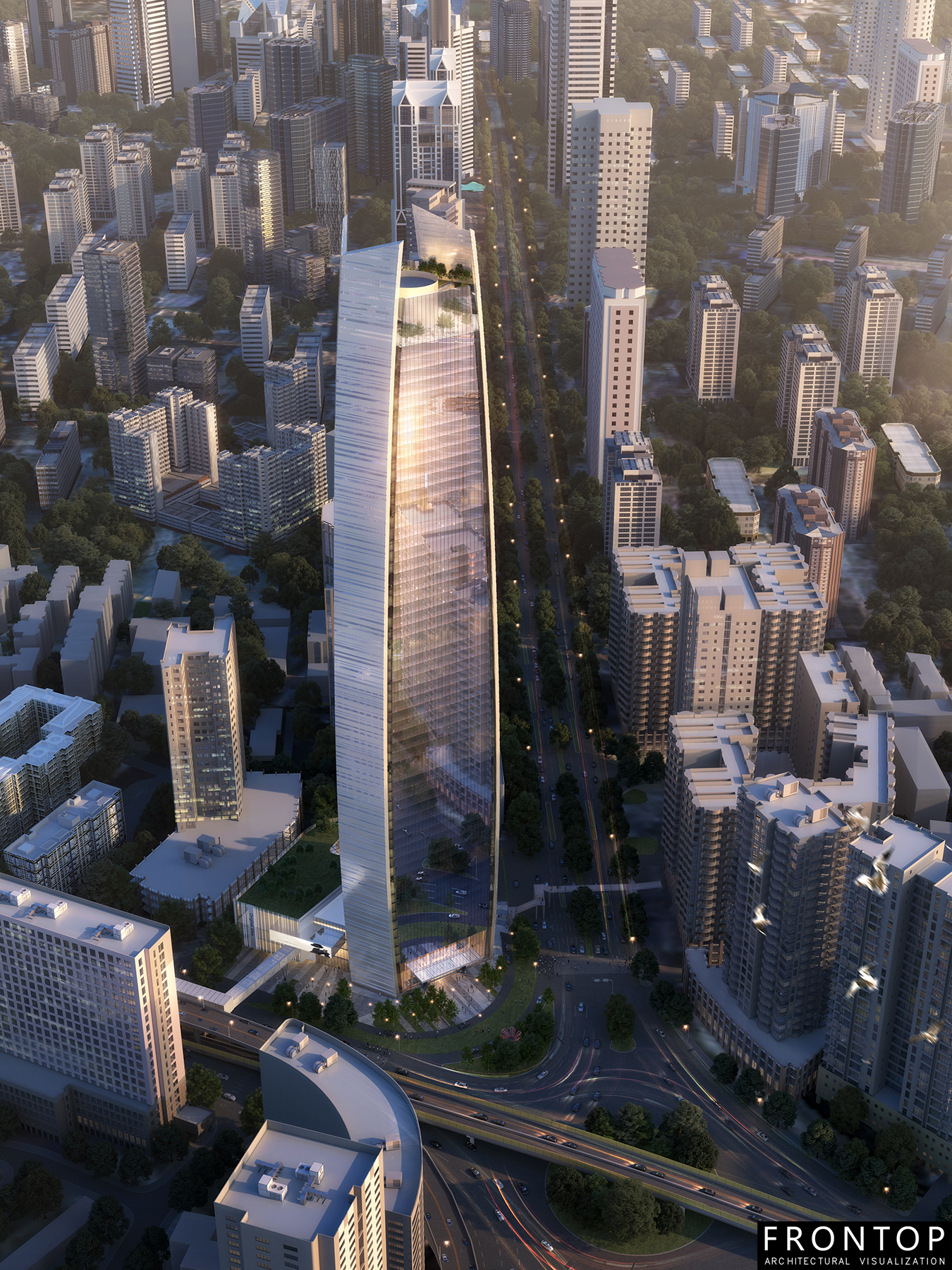 Rapid Delivery for 3d Sketch Design - Xiamen Financial Center – Frontop detail pictures