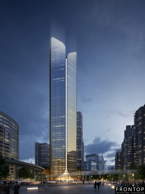 China wholesale Rendering/Animation/Interiorlandscape Model - Xiamen Financial Center – Frontop