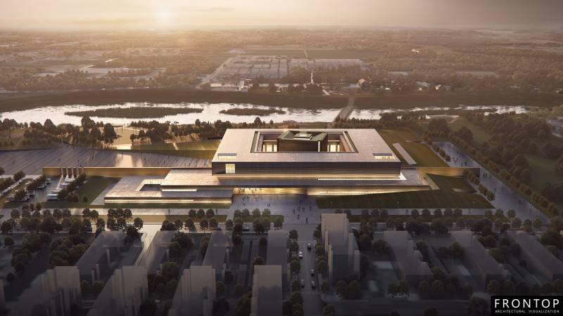 Well-designed Chinese Architectural Visualization Service - Yinxu Museum – Frontop