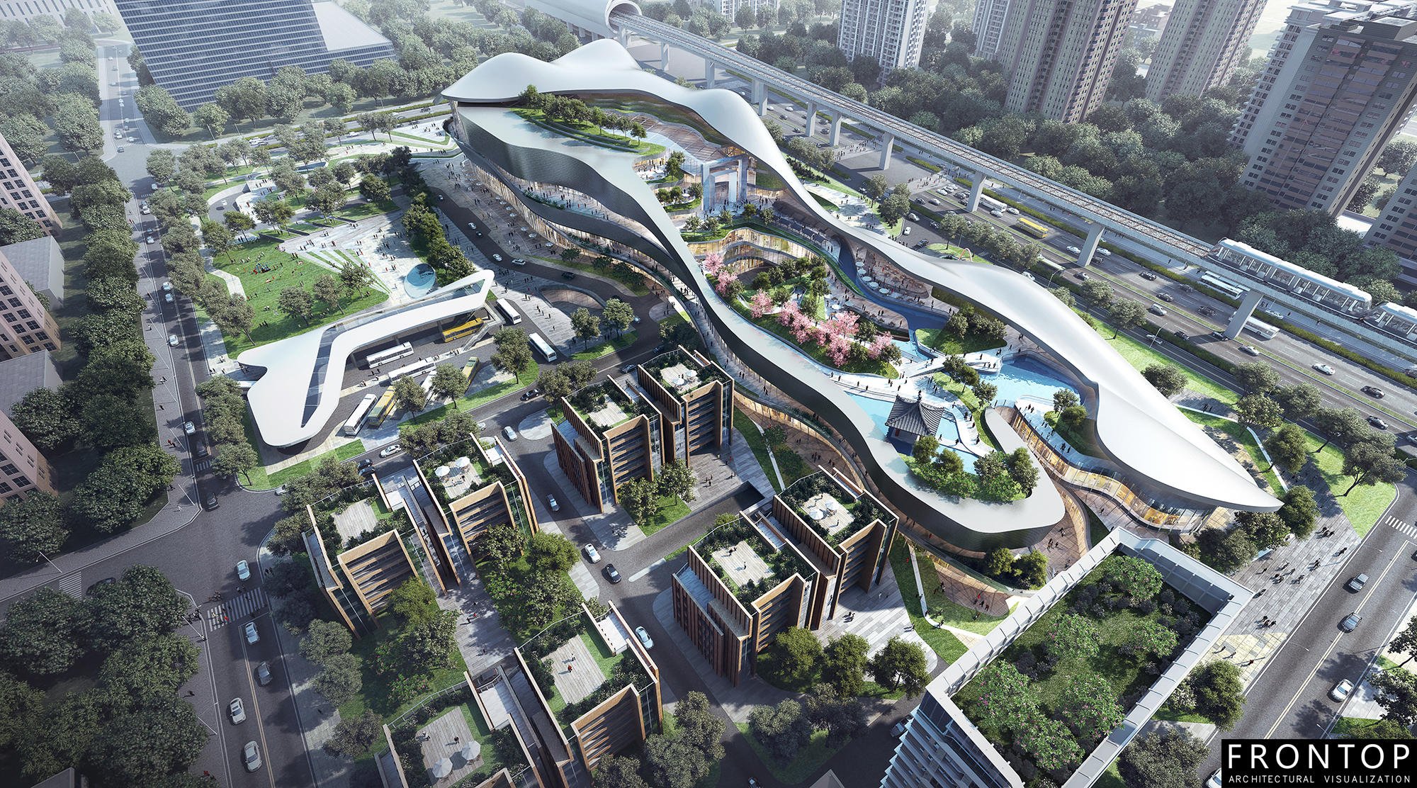 Well-designed Chinese Architectural Visualization Service - Beijing Longfor – Frontop