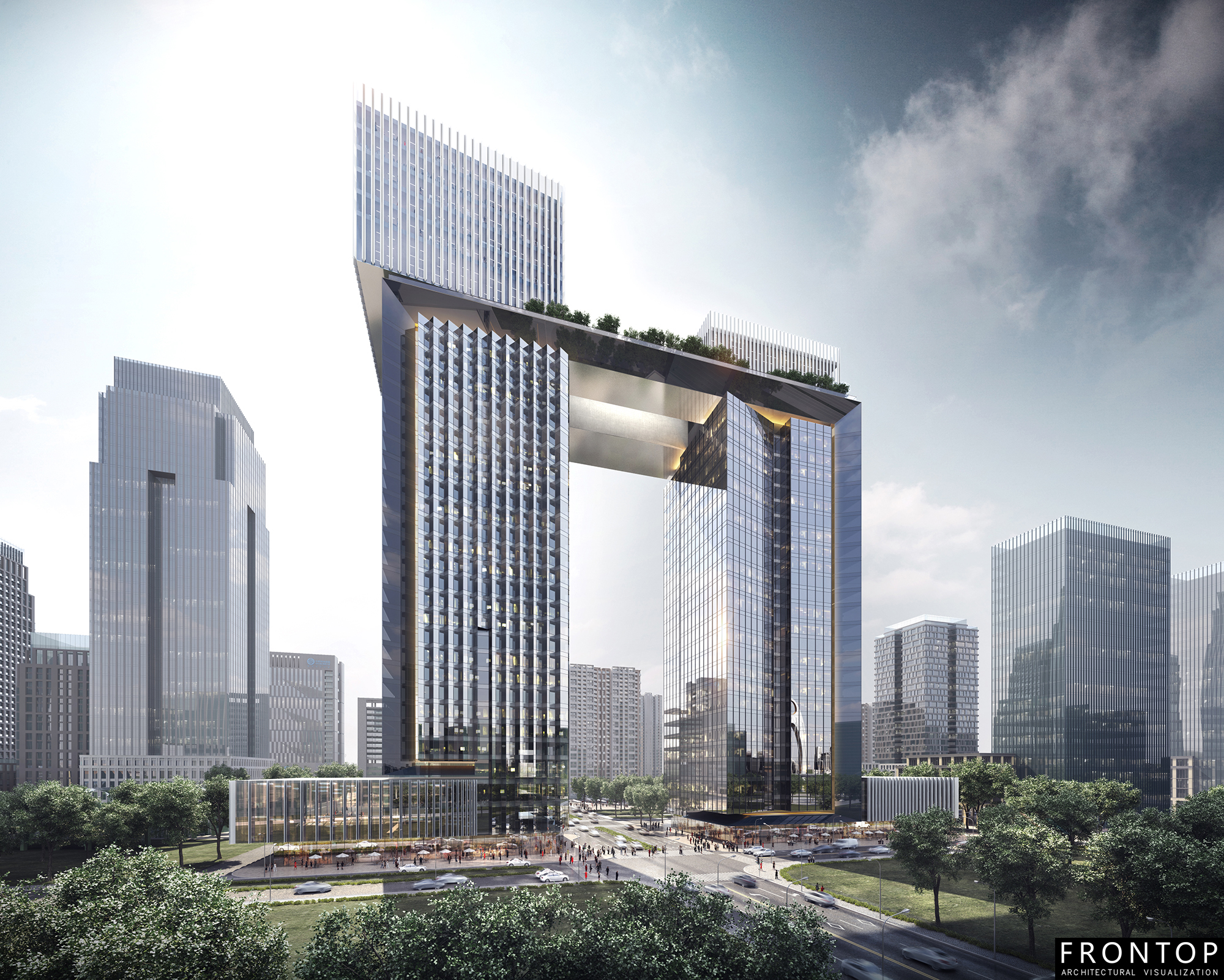 Well-designed Chinese Architectural Visualization Service - Guangzhou Pazhou – Frontop