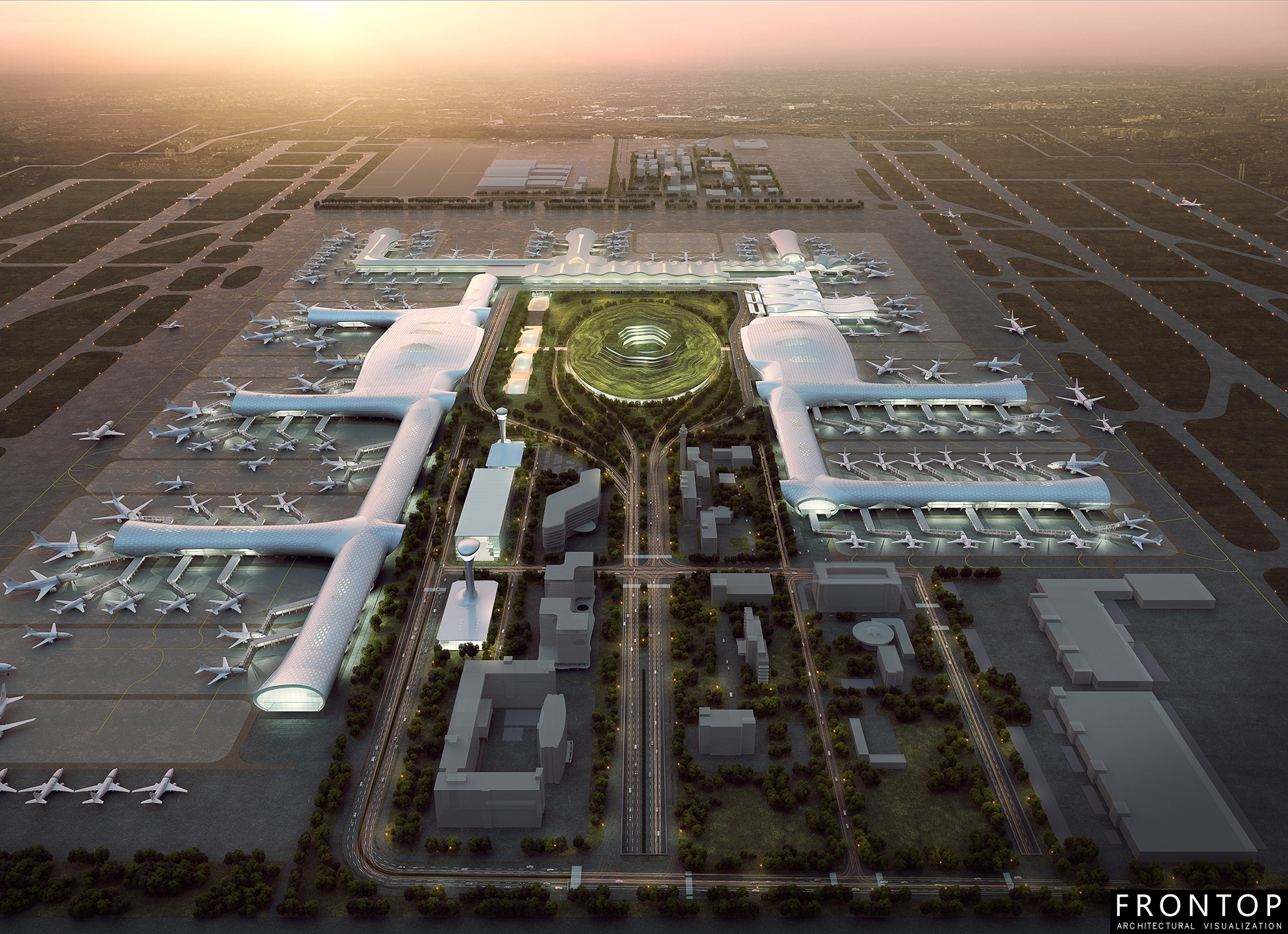 2017 Good Quality 3d Rendering+A9:A44 - Airport – Frontop detail pictures