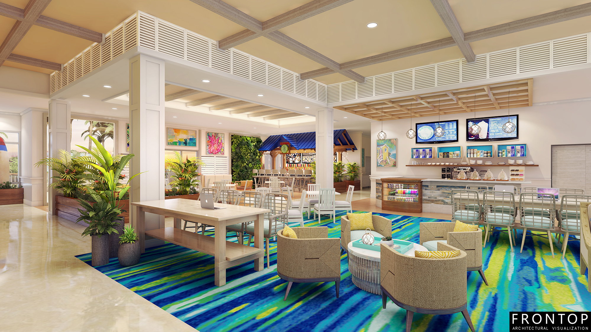 Reasonable price Interior Perspective - Margaritaville Hotel – Frontop