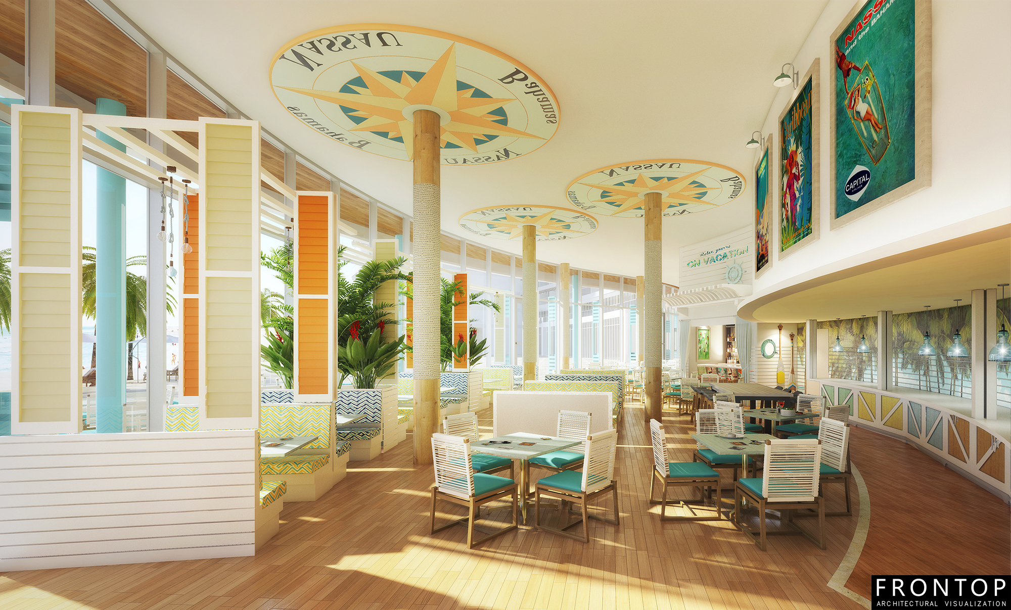 High Performance 3d Rendering Design For Restaurant -