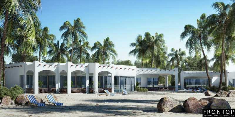 Short Lead Time for Hotel Interior Rendering - Villa – Frontop