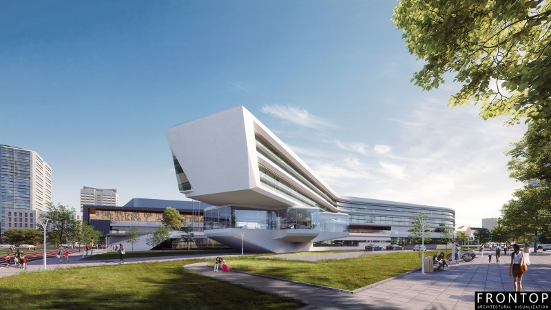 Professional China Computer Renderings - school – Frontop