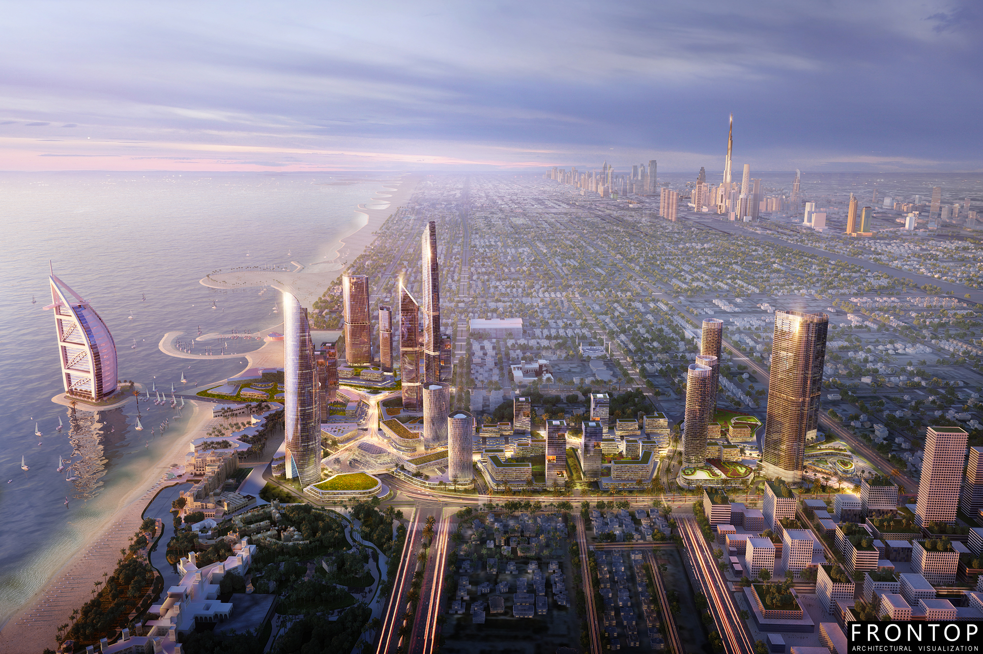 China wholesale 3d Rendering - Jumeirah District – Frontop