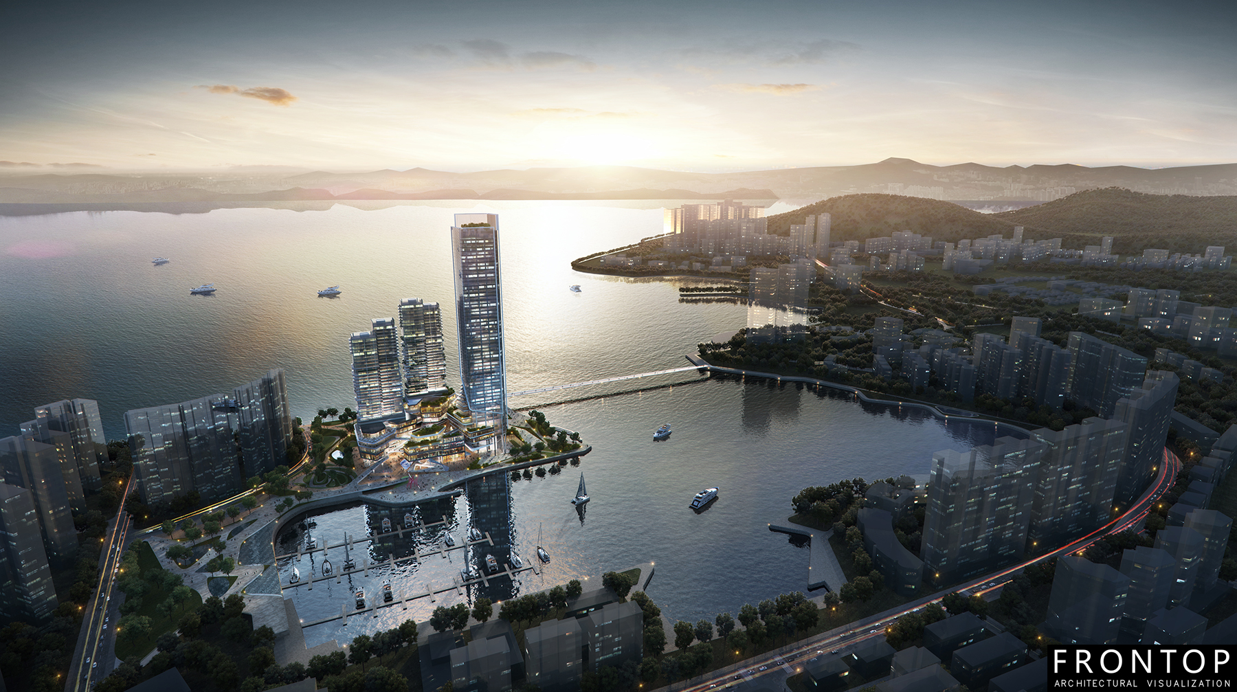 8 Year Exporter Price Architectural Rendering - Shenzhen Fisherman's Wharf Mixed-use – Frontop Featured Image