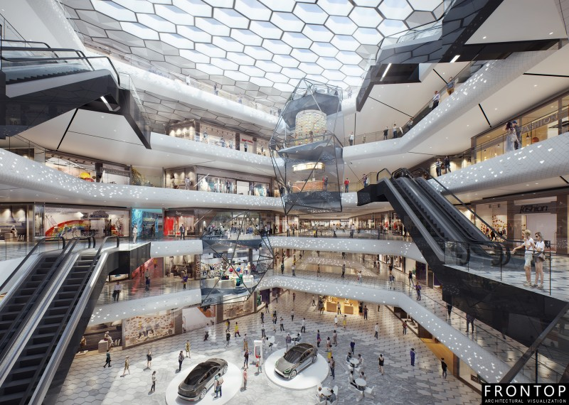 High Quality for 3d Interior Rendering - Wuhan Vanke shopping mall – Frontop