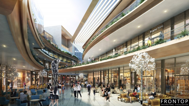 Factory For Lumion + Sketchup + Render + High + Quality - KUNMING SHOPPING MALL – Frontop
