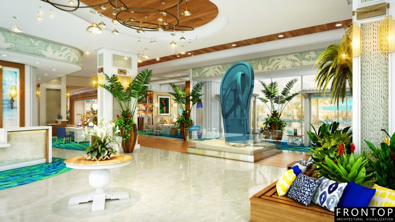 OEM Customized 3d Architectural Rendering Company - Nassau Lobby – Frontop