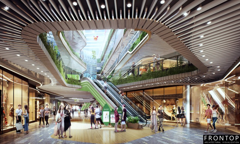 High definition 3d Rendering For City Plan - Chengdu Mall – Frontop