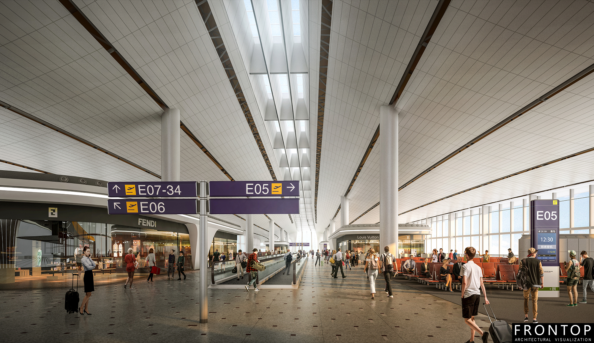 OEM Customized 3d Architectural Rendering Company - BEIJING AIRPORT – Frontop