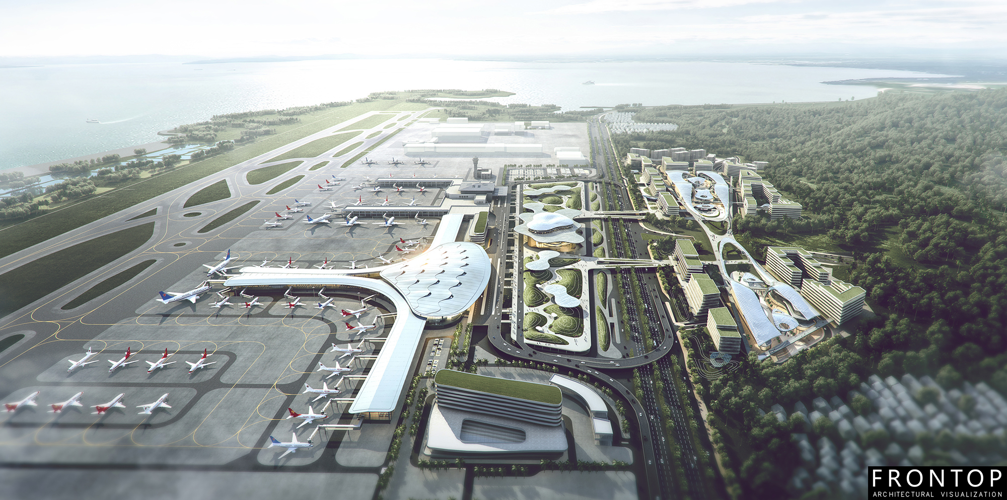 Fixed Competitive Price 3d Architecture Perspective - Zhuhai Airport Bidding – Frontop