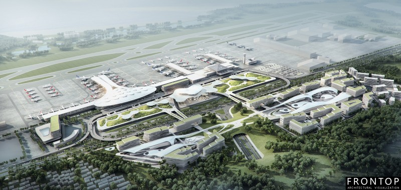 Newly Arrival Building Project 3d Rendering - Zhuhai Airport Bidding – Frontop