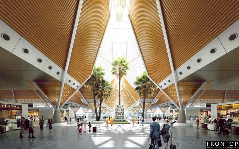 Professional China 3d Perspective Rendering - Wuge Airport – Frontop