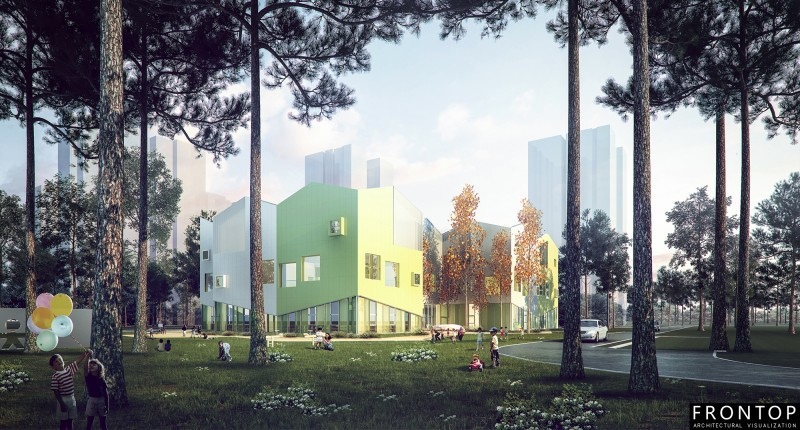 Short Lead Time for Panoramic Perspective Garage Doorc - Fangshan Doudian Kindergarten – Frontop