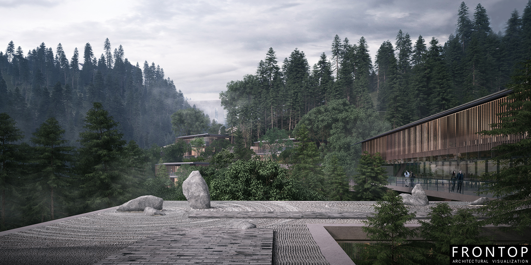 Renewable Design for Architecture Rendering Design - Emeishan Hotel – Frontop