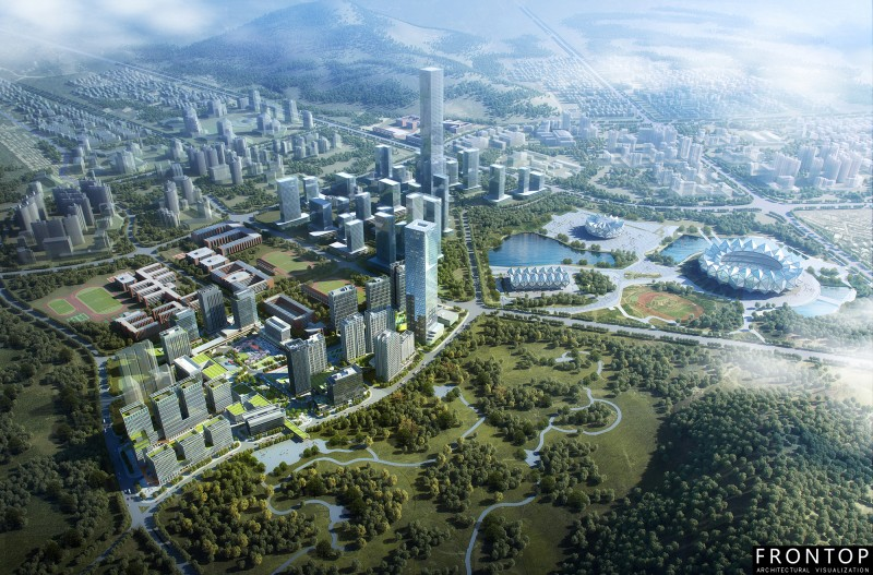 China Manufacturer for 3d Max Architecture Rendering - Qidi Xiexin Science Park – Frontop