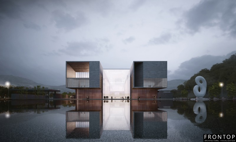 2017 China New Design 3d Rendering For Projects - Chen Jinzhang Art Museum – Frontop