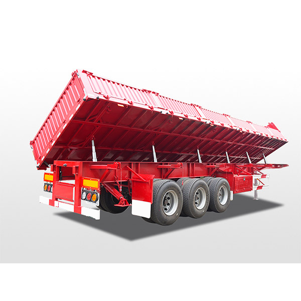 Side tipper dump semi-trailer