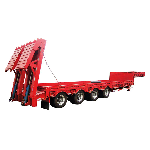 low flatbed semi-trailer goose neck