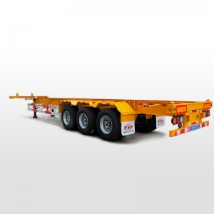 container transport semi-trailer three axis( gooseneck)