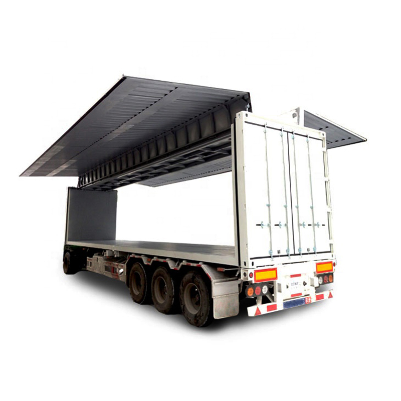 flat wing semi-trailer