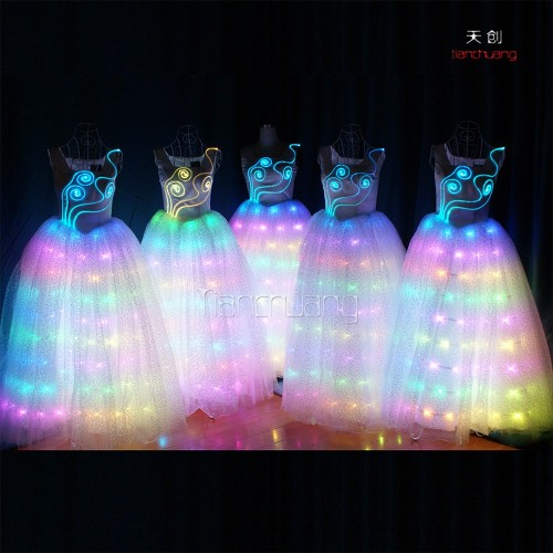 LED light up dance stage performance dress costume WL-049