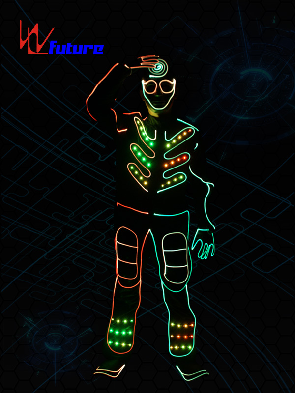Factory Outlets Battery Powered Led Light Strips Costumes - Tron dance costumes,led halloween costumes for men WL-0149 – Future Creative Featured Image