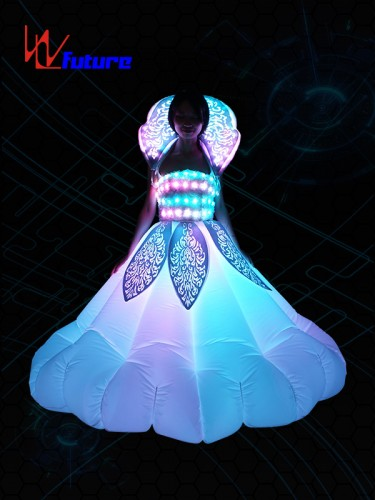 Super Lowest Price Neon Dresses Costume Glow In The Dark Led Inflatable Clothing For Women