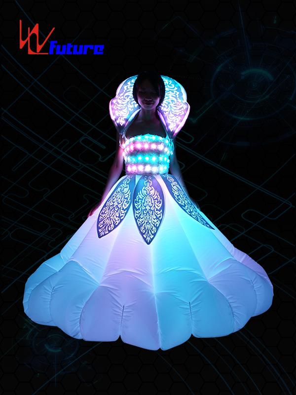 2019 New Style Led Umbrella Mini Lights - Super Lowest Price Neon Dresses Costume Glow In The Dark Led Inflatable Clothing For Women – Future Creative