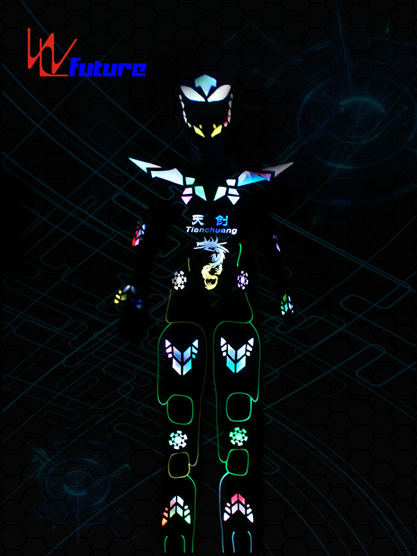 China Factory for Best Battery Powered Led Lights For Costumes - China OEM Halloween Led Robot Costume Luminous Helmet Dancerwear For Party Dj Disco Nightclub – Future Creative
