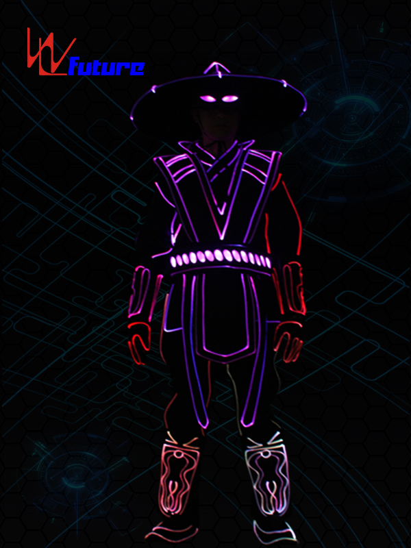 China New Product Light Up Robot Suit - Chinese Professional LED Wear clothing,newest lights led dance costumes,America Got Talent raiden led costume – Future Creative