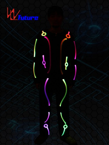 Future creative laser dance show LED & fiber optic costume WL-099