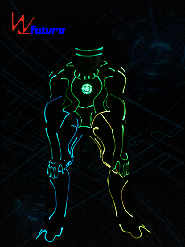 High definition Rgb Led Gloves - Glowing Tron Dance Robot Costumes Fiber Optic Suit WL-0255 – Future Creative