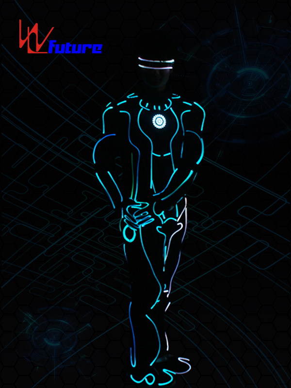 Wholesale Dealers of Mobile Power Supply For Clothes - Glowing Tron Dance Robot Costumes Fiber Optic Suit WL-0255 – Future Creative