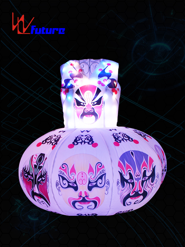 18 Years Factory White Led Costumes - Face graph Inflatable LED lantern Dress WL-0192 – Future Creative