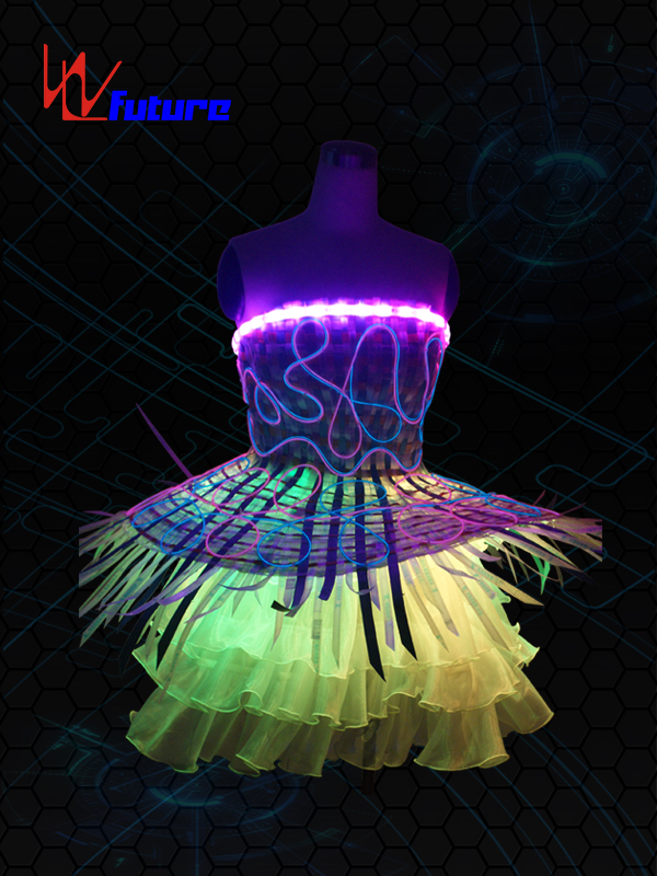 Hot sale Led Stage Costumes - LED & Fiber optic Skirt WL-012 – Future Creative detail pictures