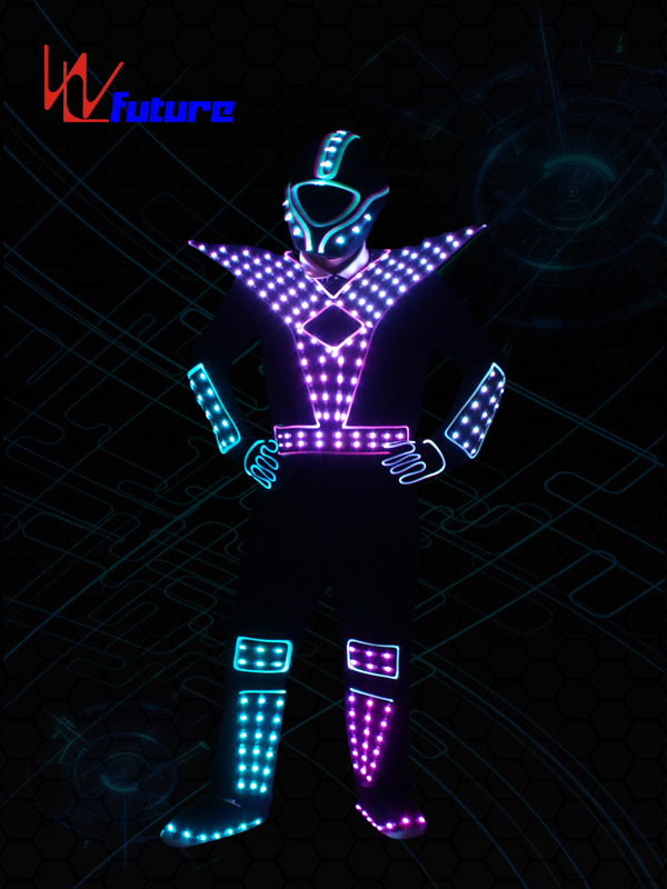 Programable LED Luminous Jumpsuit Costume With Helmet WL-0176 Featured Image