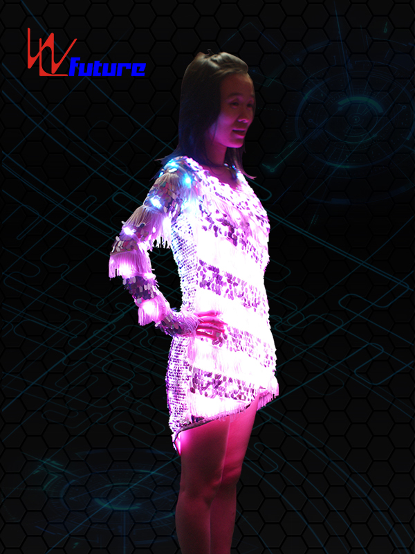 China Factory for Programmable Led Strip - Sexy LED T-shirt,Light up Skirt WL-089 – Future Creative