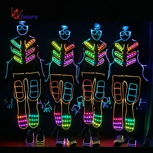 Wireless Controlled Tron Dance Costumes Led Lights Jumpsuit WL-0149