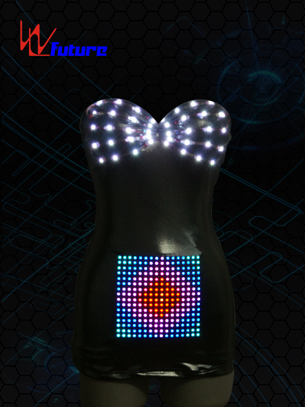 Personlized Products Dance Costumes With Led Lights - Sexy LED leather Costume for performance wear WL-020 – Future Creative