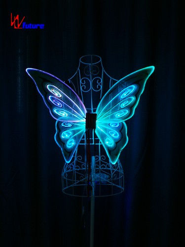 Glowing fiber optic lights butterfly wings for show WL-0171C