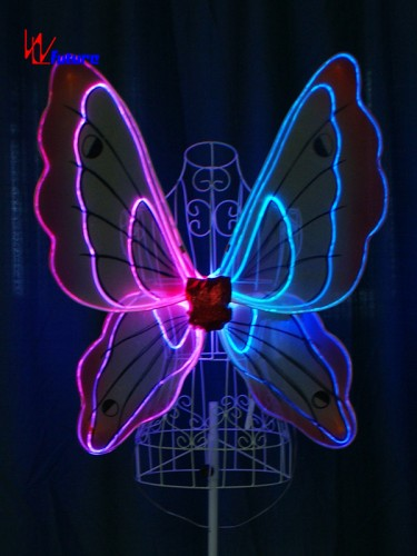 Glow in the dark LED fiber optic butterfly wings for kids WL-0171D