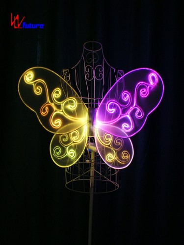 Glow in the dark LED fiber optic butterfly wings for children WL-0171E