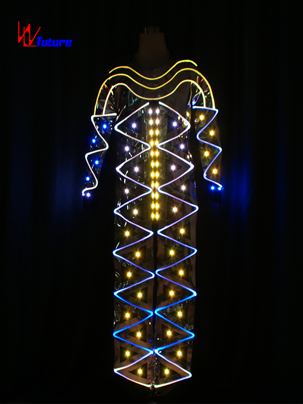Custom LED Light Up Costume Fiber Optic Jumpsuits For Men WL-0172 Featured Image