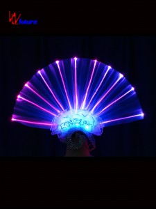 New style LED light up fan shape headdress for dance show WL-0175