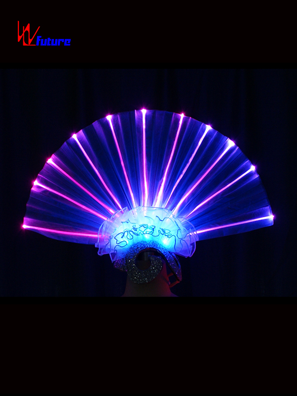 Factory Cheap Hot Wireless Controller For Clothes - New style LED light up fan shape headdress for dance show WL-0175 – Future Creative